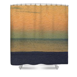 Not Quite Rothko - Breezy Twilight Shower Curtain by Serge Averbukh