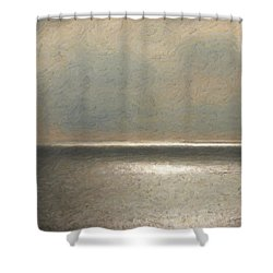 Not Quite Rothko - Twilight Silver Shower Curtain