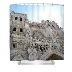 Notre-dame D'amiens Shower Curtain by Mary Mikawoz