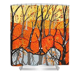 November Morning  Shower Curtain by Jeffrey Koss