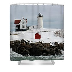 Nubble Point Maine Shower Curtain