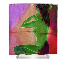 Nude Woman Shower Curtain by Svelby Art