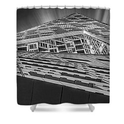 Shower Curtain featuring the photograph Nyc West 57 St Pyramid by Susan Candelario