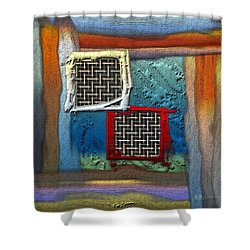 Obstructed Ocean View Shower Curtain