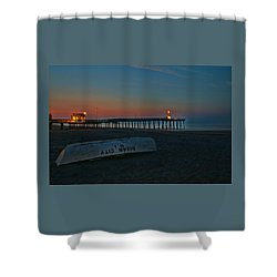 Ocean City  N J Sunrise Shower Curtain