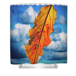 October Leaf B Fine Art Shower Curtain