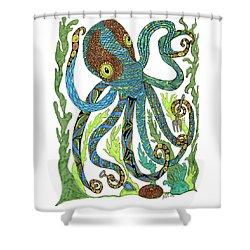 Octopus' Garden Shower Curtain