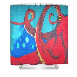 Octopus Shower Curtain by Martin Cline