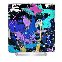 Of Moonbeams And Mad-hatters Shower Curtain