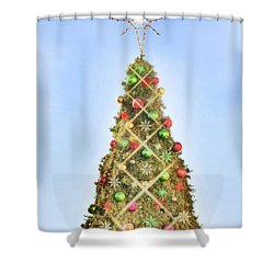 Shower Curtain featuring the photograph Oh Christmas Tree by Joan Bertucci