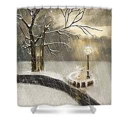 Oh Let It Snow Let It Snow Shower Curtain by Angela A Stanton