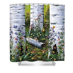 Old Aspen Grove Shower Curtain