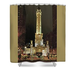 Old Chicago Water Tower Shower Curtain