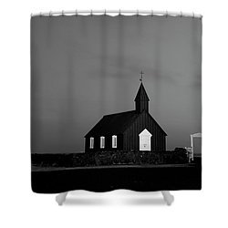 Old Countryside Church In Iceland Shower Curtain