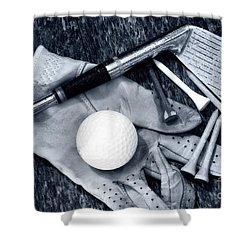 Old Golf Days Shower Curtain