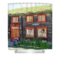 Old House Shower Curtain by Thomas M Pikolin