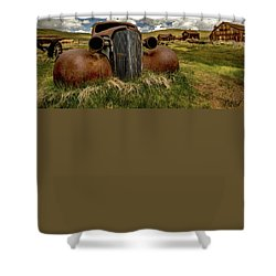Old Jalopy Bodie State Park Shower Curtain