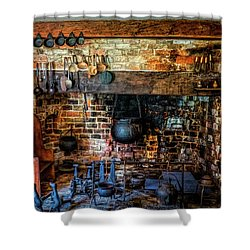 Old Kitchen Shower Curtain