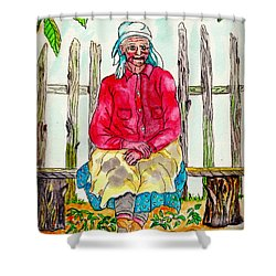 Old Migrant Worker, Resting, Arcadia, Florida 1975 Shower Curtain
