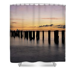 Shower Curtain featuring the photograph Old Naples Pier by Kelly Wade