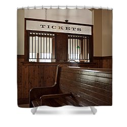 Old Time Train Station Shower Curtain