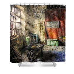 Olde Victorian Slate Workshop Shower Curtain by Ian Mitchell