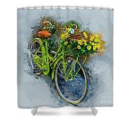 Olde Vintage Bicycle Shower Curtain