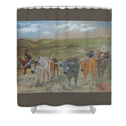 On The Chisholm Trail Shower Curtain