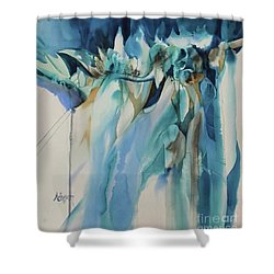 On The Edge Shower Curtain by Donna Acheson-Juillet