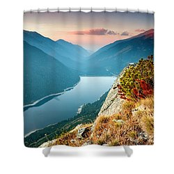 On The Edge Of The World Shower Curtain