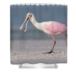 On The Move Shower Curtain by Jim Gray