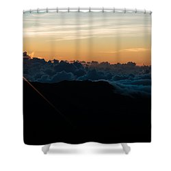 Shower Curtain featuring the photograph On Top Of The World by Colleen Coccia