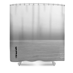 One Man Shower Curtain