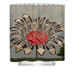 One Way Shower Curtain by Bob Sample