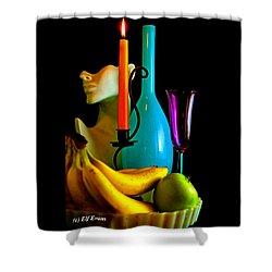 Orange Candle  Shower Curtain