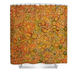 Orange Craze Shower Curtain