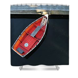 Orange Dinghy Shower Curtain