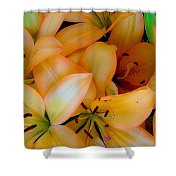 Orange Lilies Shower Curtain by Mark Barclay