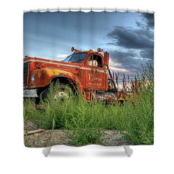 Orange Truck Shower Curtain