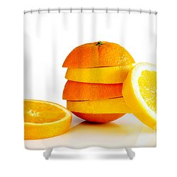 Oranje Lemon Shower Curtain by Carlos Caetano