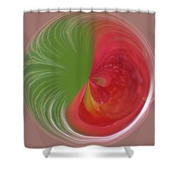 Shower Curtain featuring the photograph Orb Image Of A Wild Red Columbine by Brenda Jacobs