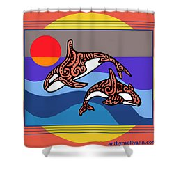 Orca Dance Shower Curtain