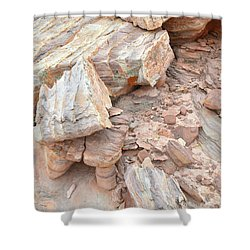 Shower Curtain featuring the photograph Ornate Sandstone In Valley Of Fire by Ray Mathis