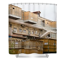 Orthodox Sukkahs In Jerusalem Shower Curtain