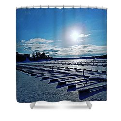 Oslo Fjords In Norway.  Shower Curtain