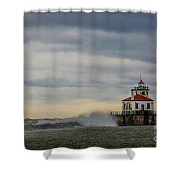 Oswego Harbor West Pierhead Light Shower Curtain