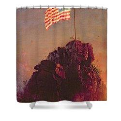 Our Flag Shower Curtain by Frederic Edwin Church