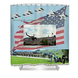 Shower Curtain featuring the digital art Our Memorial Day Salute by Daniel Hebard