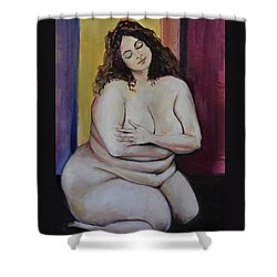 Out Of Body Shower Curtain