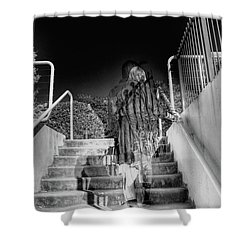 Out Of Phase Shower Curtain by Andy Lawless